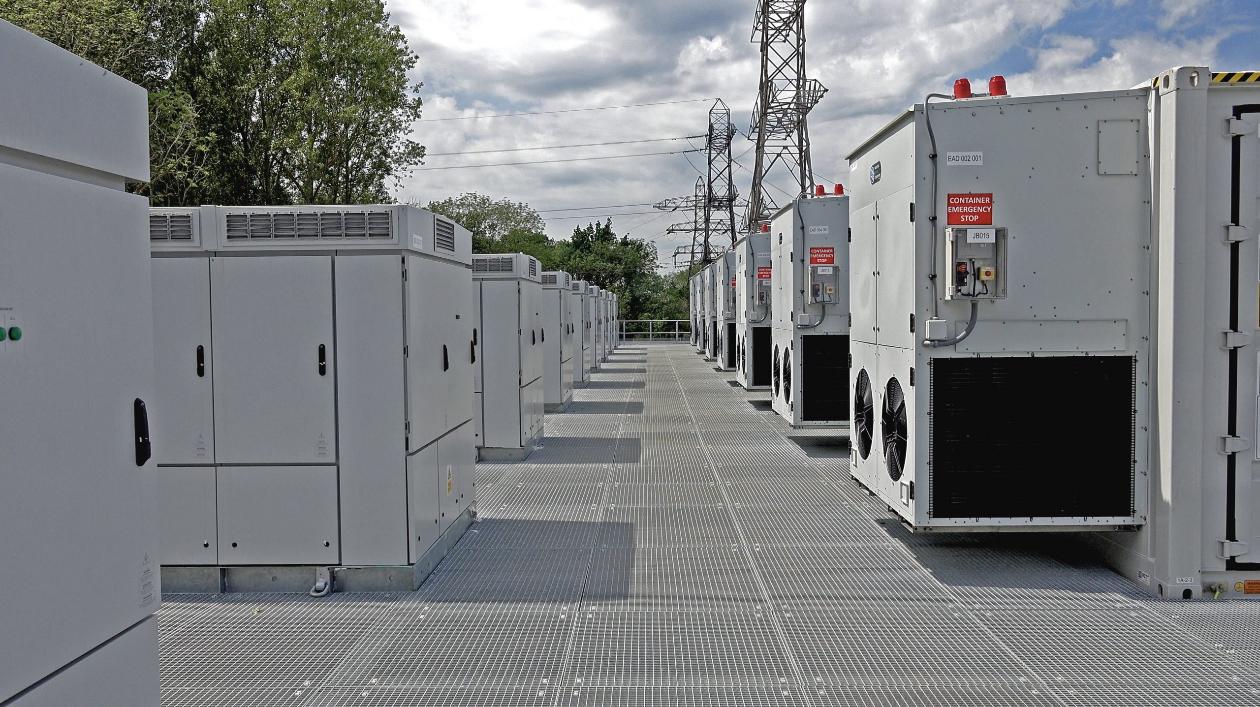 The grid-scale battery storage system, part of the £41 million Energy Superhub Oxford (ESO) project