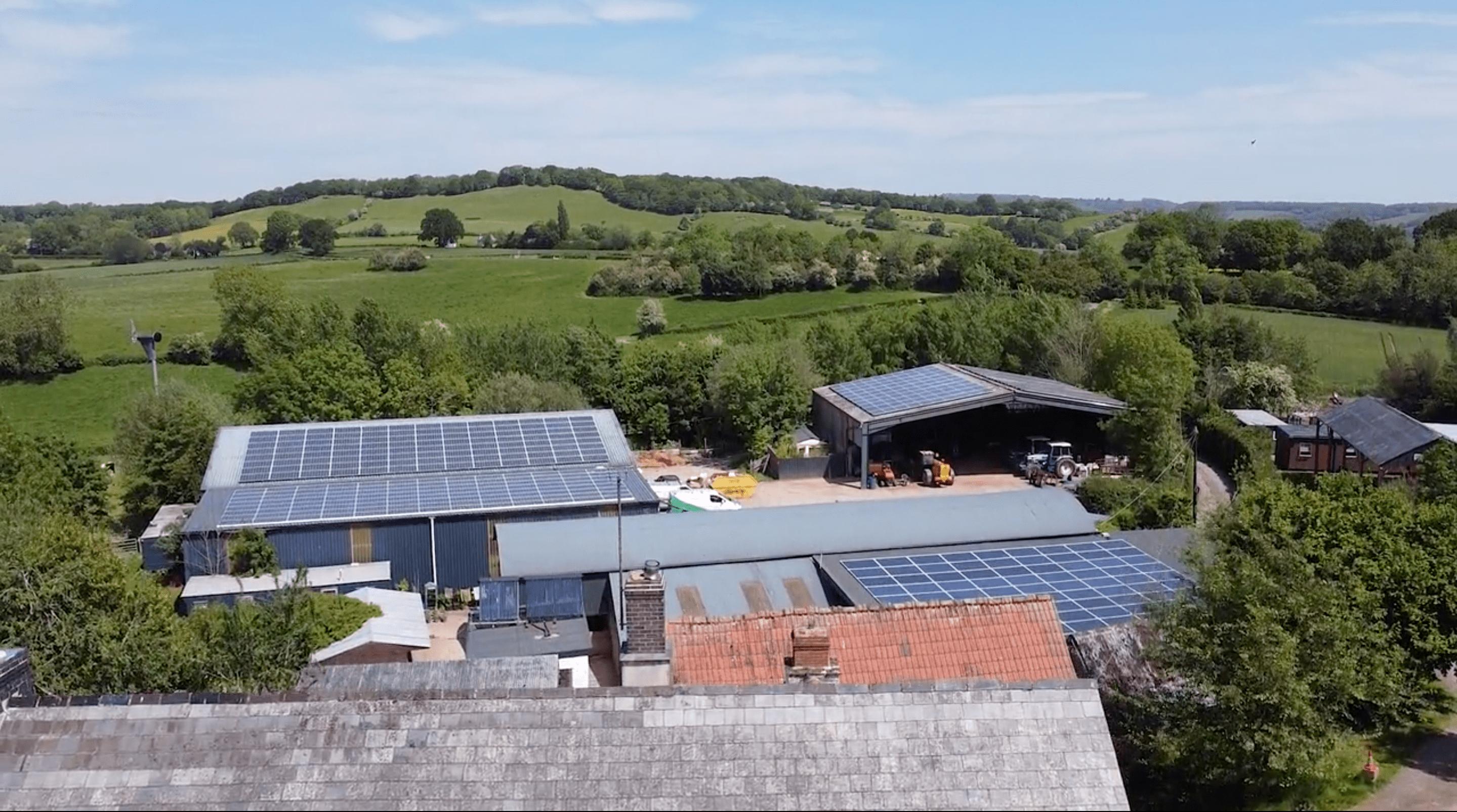 Caplor farm eith some of its renewable energy technologies on show