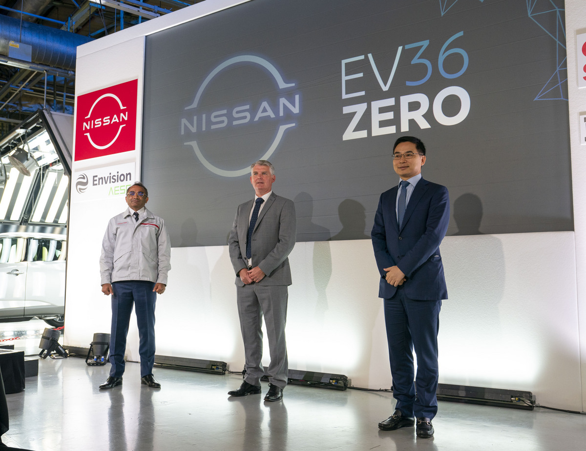 Nissan press conference - electric vehicle hub