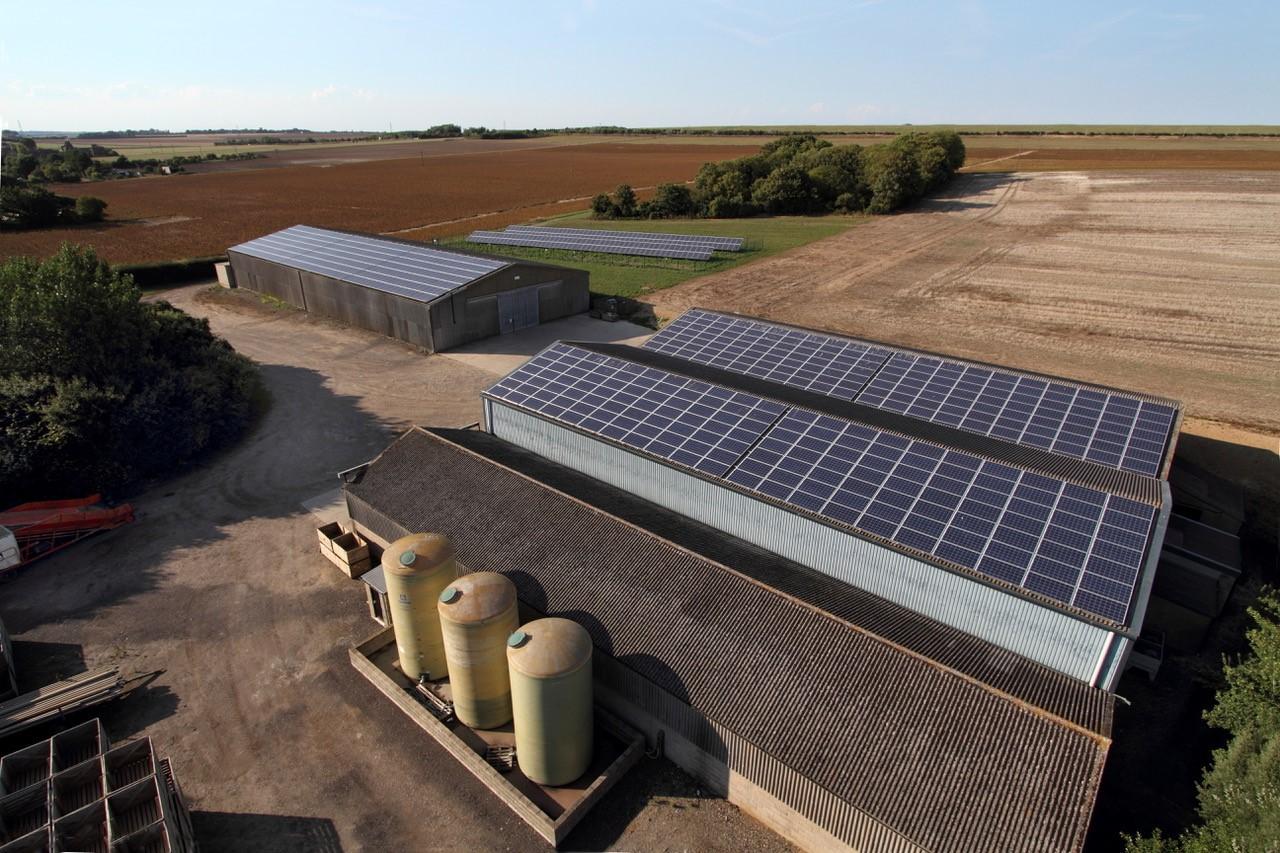 solar pv system on a farm