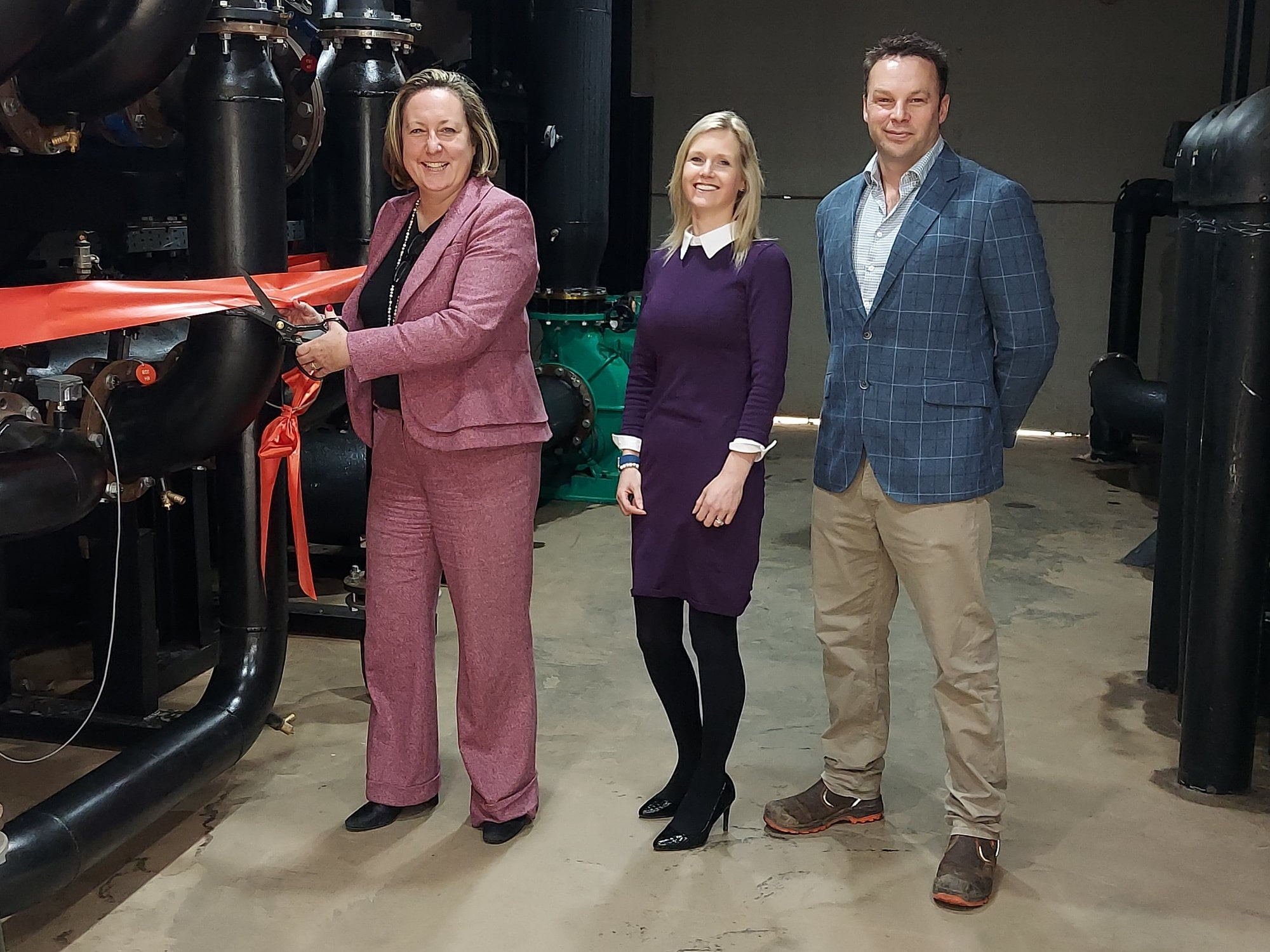 Heat pump project opened by Anne-Marie Trevelyan MP